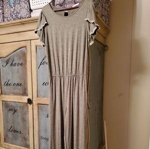 Ladies grey jumpsuit